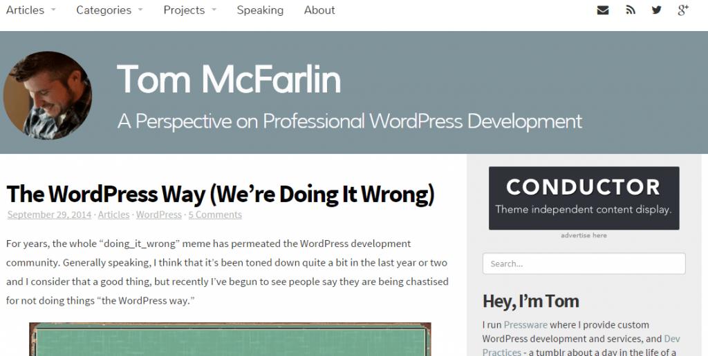 Learn to develop on WordPress 2 - Tom McFarlin